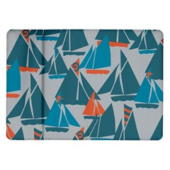 Ship Sea Blue Samsung Galaxy Tab 10 1  P7500 Flip Case