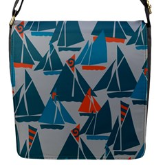 Ship Sea Blue Flap Messenger Bag (s)
