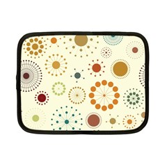 Seamless Floral Flower Orange Red Green Blue Circle Netbook Case (small)