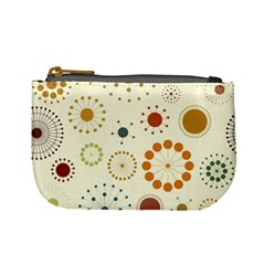 Seamless Floral Flower Orange Red Green Blue Circle Mini Coin Purses by Alisyart