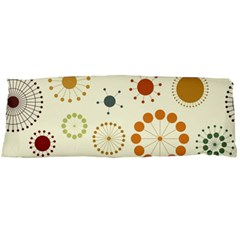 Seamless Floral Flower Orange Red Green Blue Circle Body Pillow Case Dakimakura (two Sides)