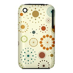 Seamless Floral Flower Orange Red Green Blue Circle Iphone 3s/3gs by Alisyart