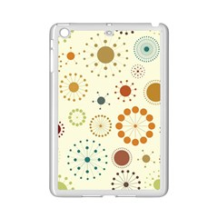 Seamless Floral Flower Orange Red Green Blue Circle Ipad Mini 2 Enamel Coated Cases