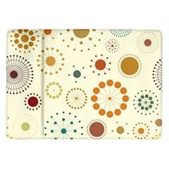 Seamless Floral Flower Orange Red Green Blue Circle Samsung Galaxy Tab 10 1  P7500 Flip Case