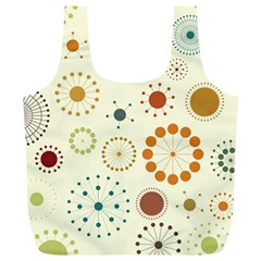 Seamless Floral Flower Orange Red Green Blue Circle Full Print Recycle Bags (l)  by Alisyart