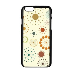 Seamless Floral Flower Orange Red Green Blue Circle Apple Iphone 6/6s Black Enamel Case by Alisyart