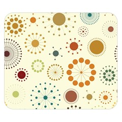 Seamless Floral Flower Orange Red Green Blue Circle Double Sided Flano Blanket (small)  by Alisyart