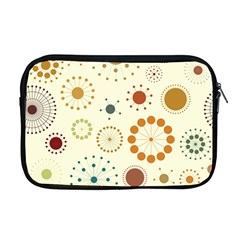 Seamless Floral Flower Orange Red Green Blue Circle Apple Macbook Pro 17  Zipper Case