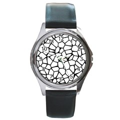 Seamless Cobblestone Texture Specular Opengameart Black White Round Metal Watch by Alisyart