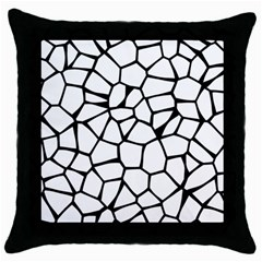 Seamless Cobblestone Texture Specular Opengameart Black White Throw Pillow Case (black) by Alisyart