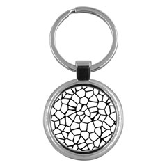 Seamless Cobblestone Texture Specular Opengameart Black White Key Chains (round)  by Alisyart