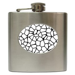 Seamless Cobblestone Texture Specular Opengameart Black White Hip Flask (6 Oz) by Alisyart