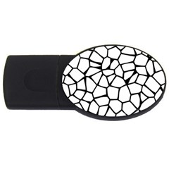 Seamless Cobblestone Texture Specular Opengameart Black White Usb Flash Drive Oval (2 Gb) by Alisyart
