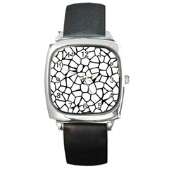 Seamless Cobblestone Texture Specular Opengameart Black White Square Metal Watch by Alisyart