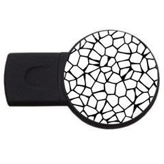 Seamless Cobblestone Texture Specular Opengameart Black White Usb Flash Drive Round (4 Gb) by Alisyart