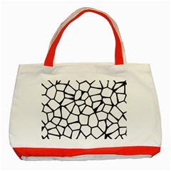 Seamless Cobblestone Texture Specular Opengameart Black White Classic Tote Bag (red) by Alisyart