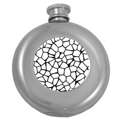 Seamless Cobblestone Texture Specular Opengameart Black White Round Hip Flask (5 Oz) by Alisyart