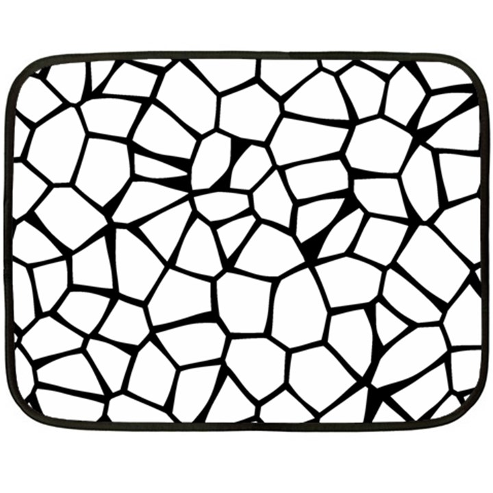 Seamless Cobblestone Texture Specular Opengameart Black White Fleece Blanket (Mini)