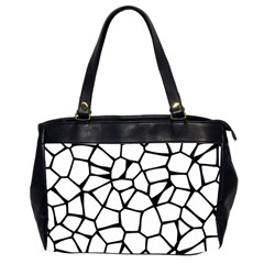 Seamless Cobblestone Texture Specular Opengameart Black White Office Handbags (2 Sides)  by Alisyart