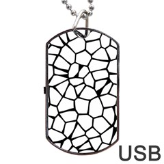 Seamless Cobblestone Texture Specular Opengameart Black White Dog Tag Usb Flash (one Side) by Alisyart
