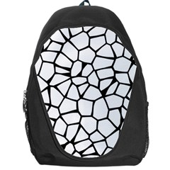 Seamless Cobblestone Texture Specular Opengameart Black White Backpack Bag by Alisyart