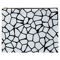 Seamless Cobblestone Texture Specular Opengameart Black White Cosmetic Bag (xxxl)