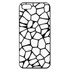 Seamless Cobblestone Texture Specular Opengameart Black White Apple Iphone 5 Seamless Case (black)