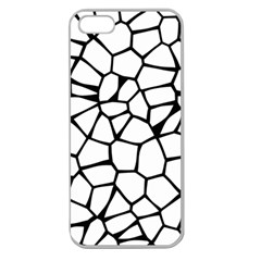 Seamless Cobblestone Texture Specular Opengameart Black White Apple Seamless Iphone 5 Case (clear) by Alisyart