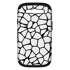 Seamless Cobblestone Texture Specular Opengameart Black White Samsung Galaxy S Iii Hardshell Case (pc+silicone)