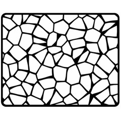 Seamless Cobblestone Texture Specular Opengameart Black White Double Sided Fleece Blanket (medium)