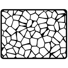 Seamless Cobblestone Texture Specular Opengameart Black White Double Sided Fleece Blanket (large)  by Alisyart