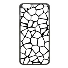 Seamless Cobblestone Texture Specular Opengameart Black White Apple Iphone 6 Plus/6s Plus Black Enamel Case by Alisyart