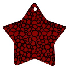 Tile Circles Large Red Stone Ornament (star)