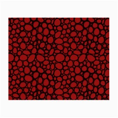 Tile Circles Large Red Stone Small Glasses Cloth (2 Side) by Alisyart