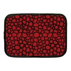 Tile Circles Large Red Stone Netbook Case (medium)