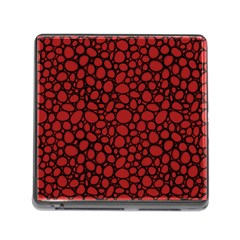 Tile Circles Large Red Stone Memory Card Reader (square) by Alisyart