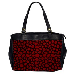 Tile Circles Large Red Stone Office Handbags