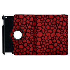 Tile Circles Large Red Stone Apple Ipad 3/4 Flip 360 Case