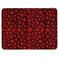 Tile Circles Large Red Stone Samsung Galaxy Tab 7  P1000 Flip Case