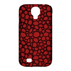 Tile Circles Large Red Stone Samsung Galaxy S4 Classic Hardshell Case (pc+silicone)