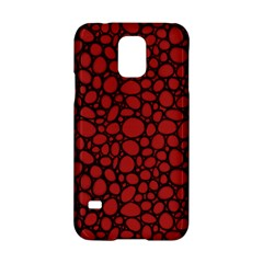 Tile Circles Large Red Stone Samsung Galaxy S5 Hardshell Case  by Alisyart