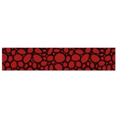 Tile Circles Large Red Stone Flano Scarf (small)