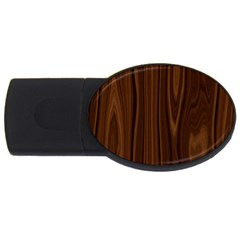 Texture Seamless Wood Brown Usb Flash Drive Oval (2 Gb) by Alisyart