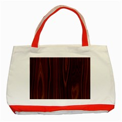 Texture Seamless Wood Brown Classic Tote Bag (red)