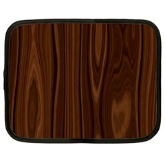 Texture Seamless Wood Brown Netbook Case (large)