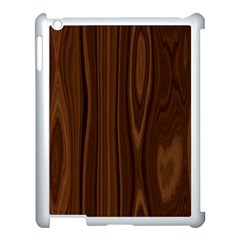 Texture Seamless Wood Brown Apple Ipad 3/4 Case (white)
