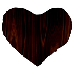 Texture Seamless Wood Brown Large 19  Premium Flano Heart Shape Cushions by Alisyart