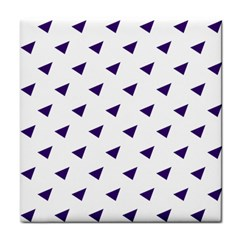 Triangle Purple Blue White Tile Coasters by Alisyart
