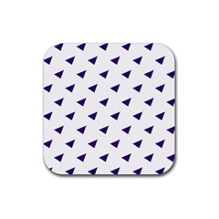 Triangle Purple Blue White Rubber Coaster (square)