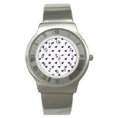 Triangle Purple Blue White Stainless Steel Watch by Alisyart
